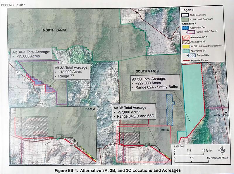 Nellis Test and Training Range military base expansion