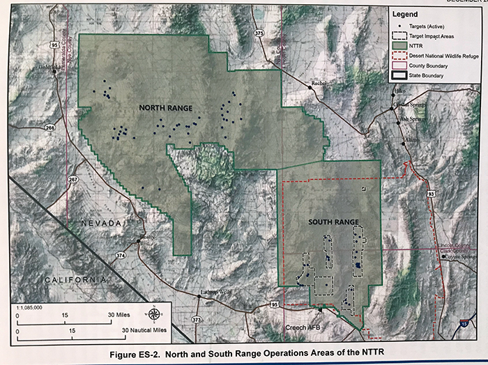 North Las Vegas Map Boundaries.Nellis Test And Training Range Military Base Expansion