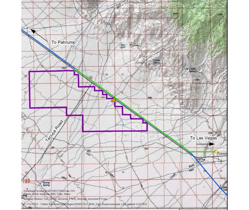Yellow Pine Solar Project Pahrump Nevada